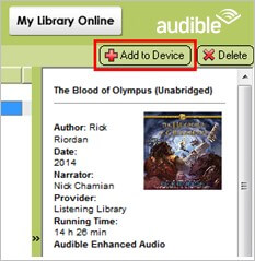 add audiobooks to mp3 player