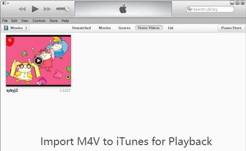 add m4v to itunes