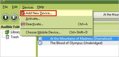 add new device on audible manager