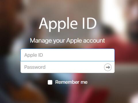 apple account page