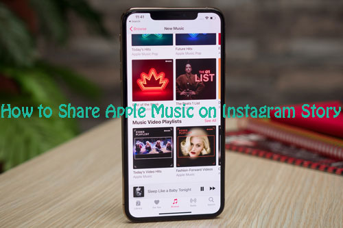 how to share apple music on instagram story