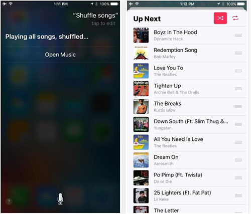 How to Shuffle Apple Music Song on iPhone/iPad with iOS 12