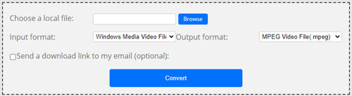 mov to flv via convertfiles