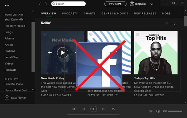 remove facebook from Spotify