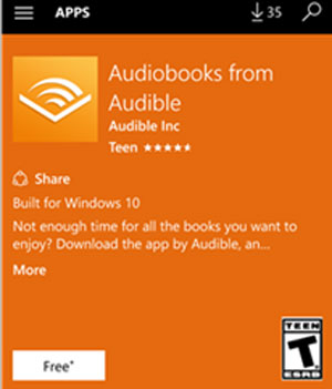 play audible books on windows phone with audible app