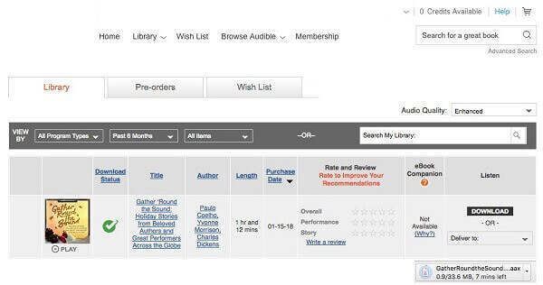 Sloved: How to Download and Listen to Audible Audiobook Files