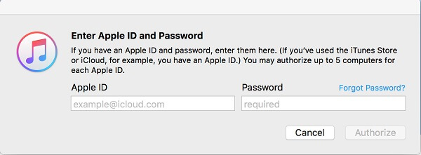 sign in itunes account