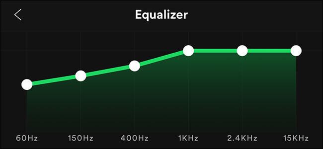 use spotify equalizer