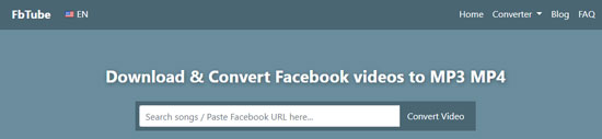 fbtube online facebook video to audio converter