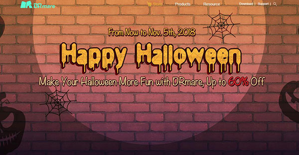 drmare halloween sales 2018