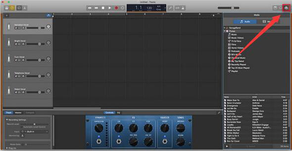 import song to garageband mac