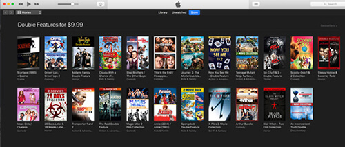 apple's double features movie sale on itunes