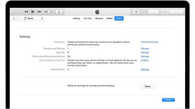 itunes manage subscription