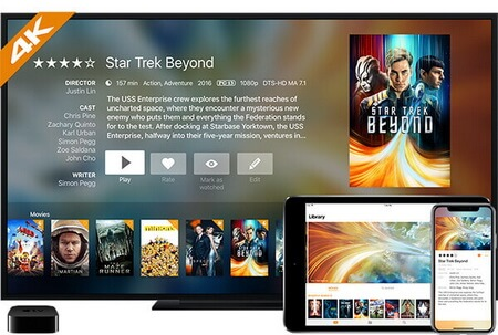itunes movies to infuse