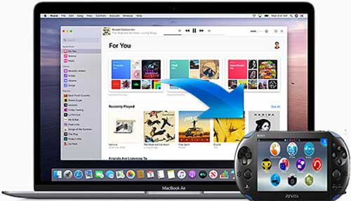 move itunes movies to sony ps vita