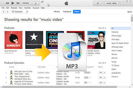 convert itunes music video to mp3