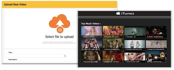 upload itunes music video to metacafe