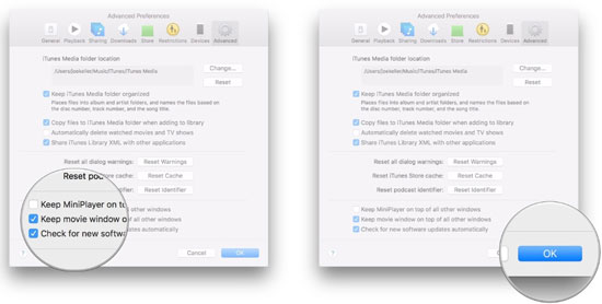 itunes podcast advanced setting