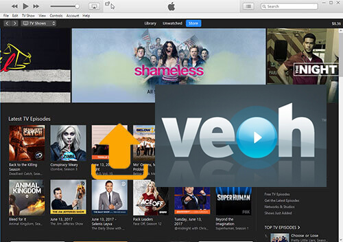 stream itunes movies to veoh