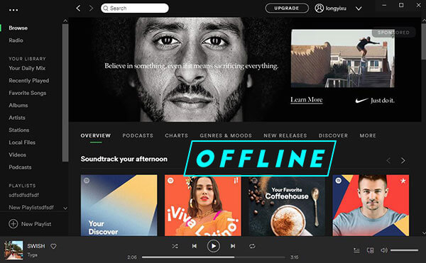 listen to spotify offline
