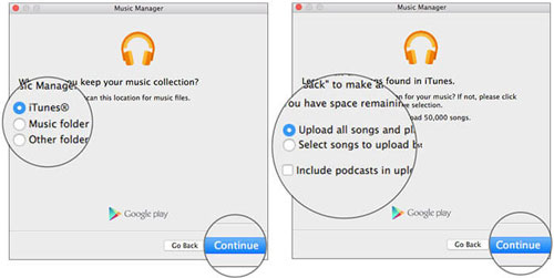move itunes music to google play by music manager