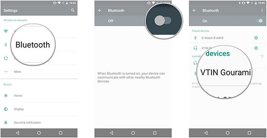pair a phone with bluetooth device