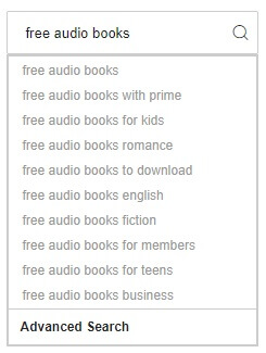 search free audible books