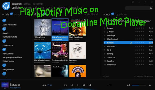 play spotify music on dopamine music player