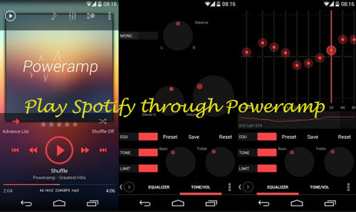 how to play spotify through poweramp