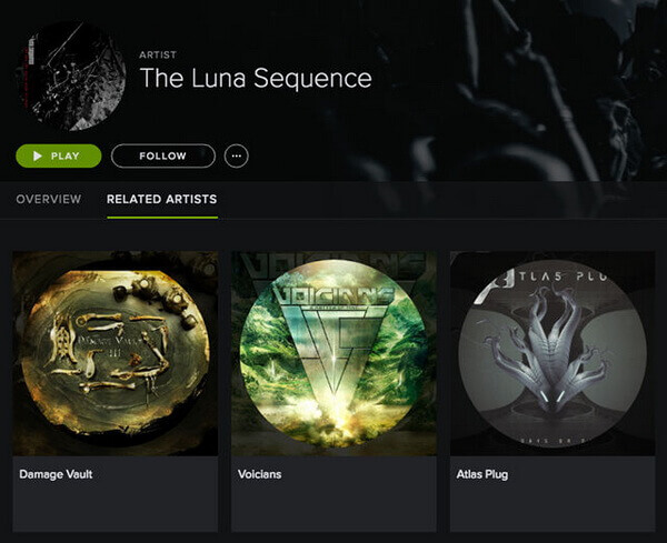 spotify related artists