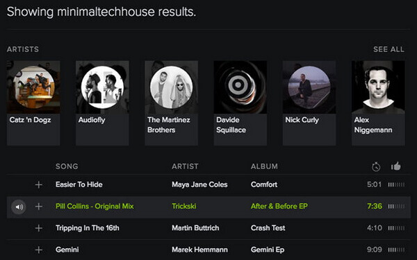 spotify advanced search