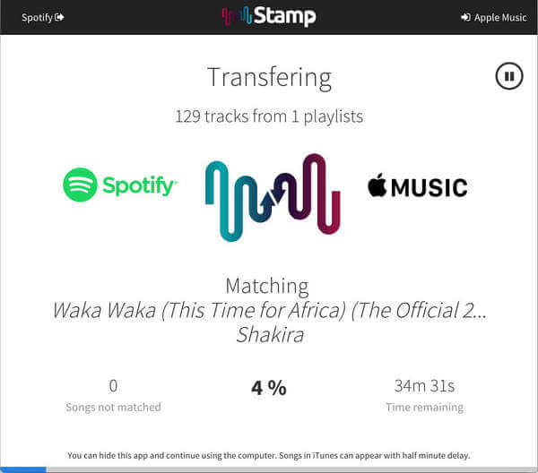 spotify to apple music stamp