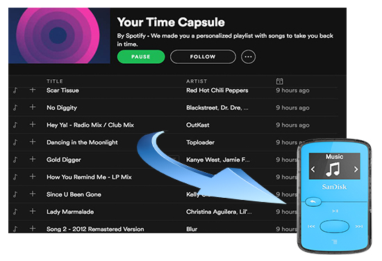 download spotify music to sandisk mp3 player