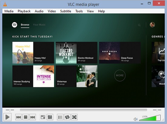 How to get music from spotify onto windows media player
