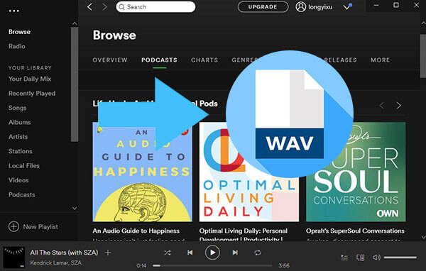 How to Get WAV Files from Spotify Music