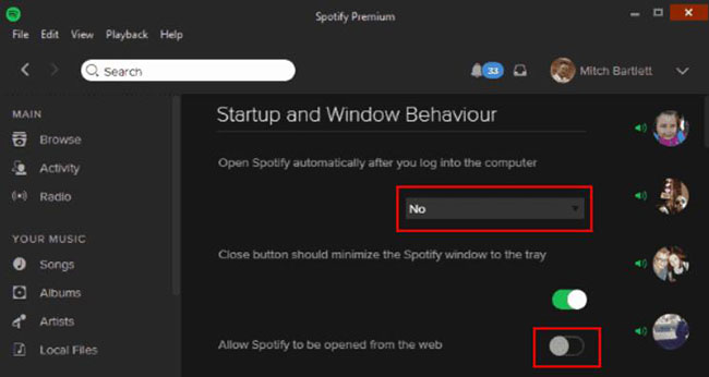stop spotify from opening on startup windows