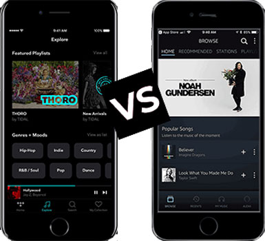 tidal vs amazon music comparison