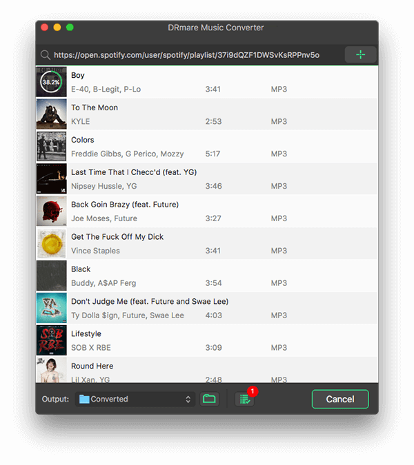 DRmare Spotify Music Converter for Mac 1.1.1