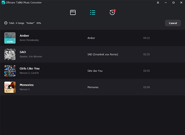convert tidal music to plex